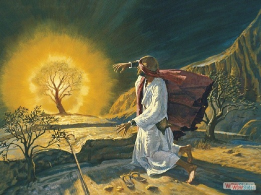 Moses at Burning Bush